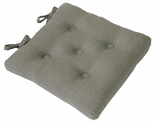 primavera pigeon linen effect buttoned seat pad with ties