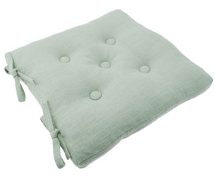 primavera duckegg buttoned seat pad with ties