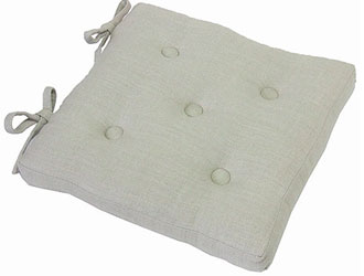 primavera linen buttoned seat pads with ties