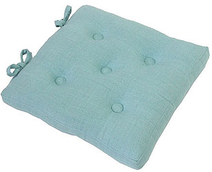 primavera swedish blue buttoned seat pad