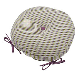 wildflower stripe round seat pad
