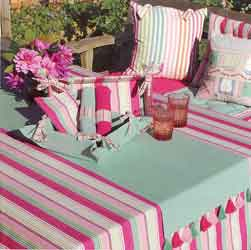 calypso range of tablecloths cushions and seat pads