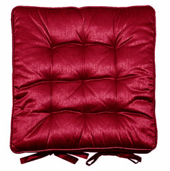 madison squab red satin seat pads