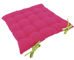 rio pink and lime squab seat pad