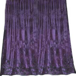 alison heather velvet curtain