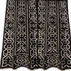 leopold black velvet curtain