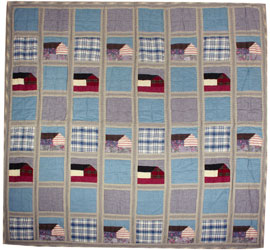 denim patchwork throw