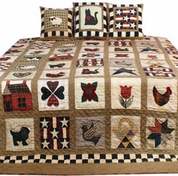 magnificent american sampler patchwork quilt hand made using fair trade practice