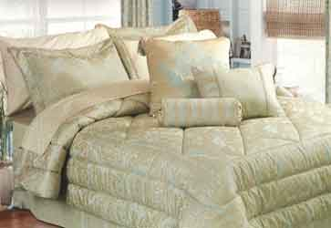 ariana quilted bedspreads, duvet covers, cushions and curtains with matching bed skirt