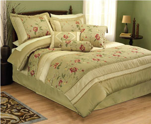 gardenia floral cotton bedspread with matchng curtains duvet cover and valance