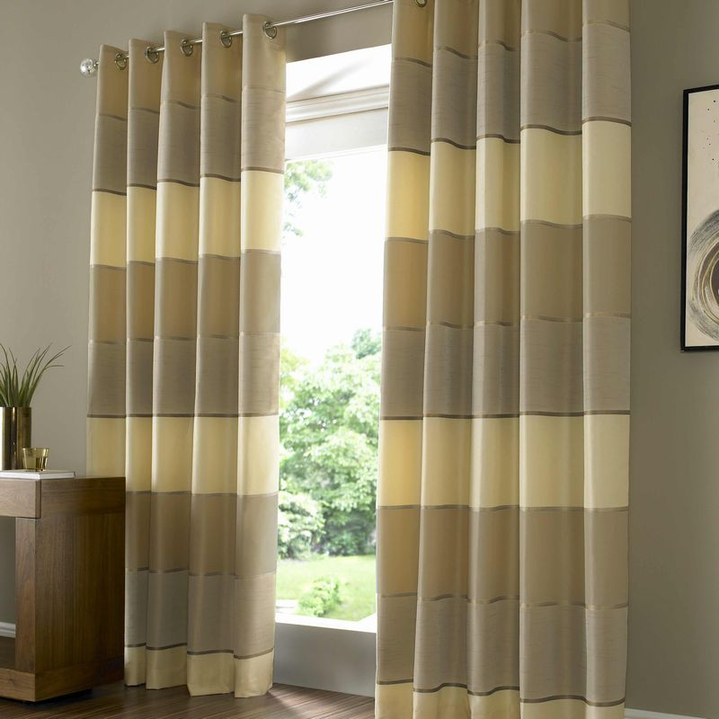 lucas gold eyelet curtain chic contemporary fully lined curtains