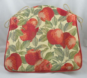 apples tapestry seat pad
