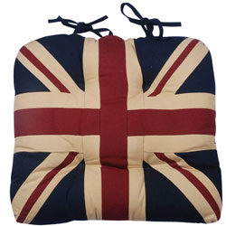 union jack tea-dyed chunky seat pad