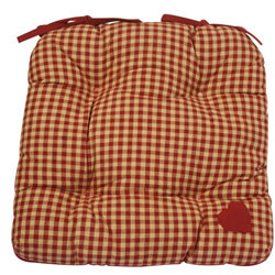 york red plaid chunky seat pad