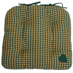 york plaid green chunky seat pad