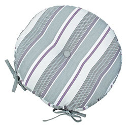 blakeney round striped seat pads