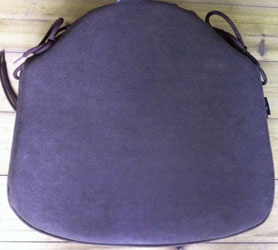 chocolate faux suede seat pad