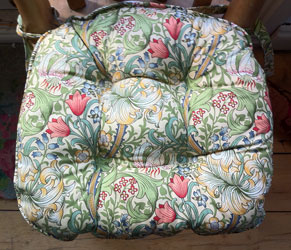 golden lily william morris chunky seat pad