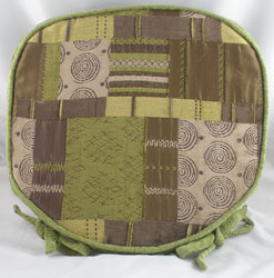 morocco green patchwork seat pad