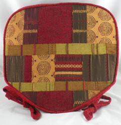 morocco wine patchwork seat pad