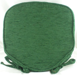 savannah bottle green chenille seat pad