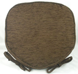 savannah chocolate chenille seat pad