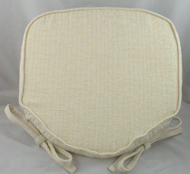 savannah cream chenille seat pad