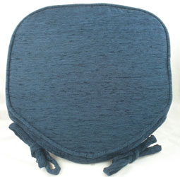 savannah midnight blue chenille seat pad