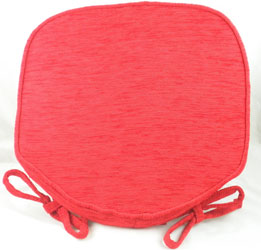 savannah red chenille seat pad