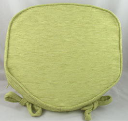savannah salad green chenille seat pad