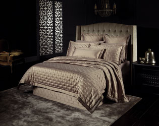 dion buff satin bedspread and shams