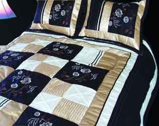 wendy black satin bedspread