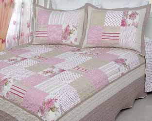 antique rose patchwork quilt