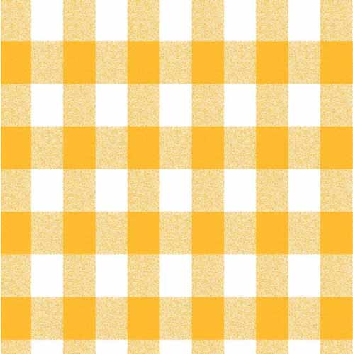 Gingham Yellow Tablecloth