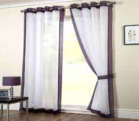 mayfair purple voile curtain