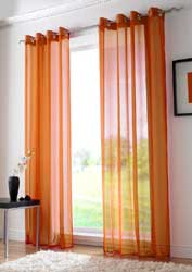 orange voile eyelet curtain