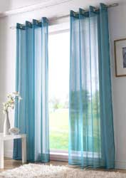 teal voile eyelet curtain