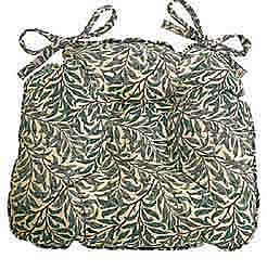 willaim morris willow bough greenchunky seat pad