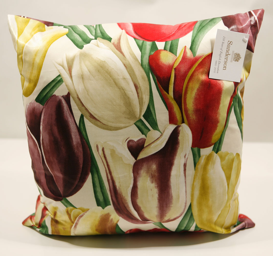 Dating from 1929, this design of bold tulips was originally an Eton Rural